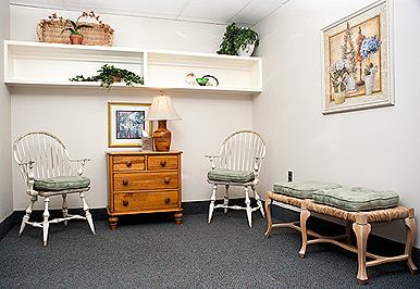 Private comfort waiting room